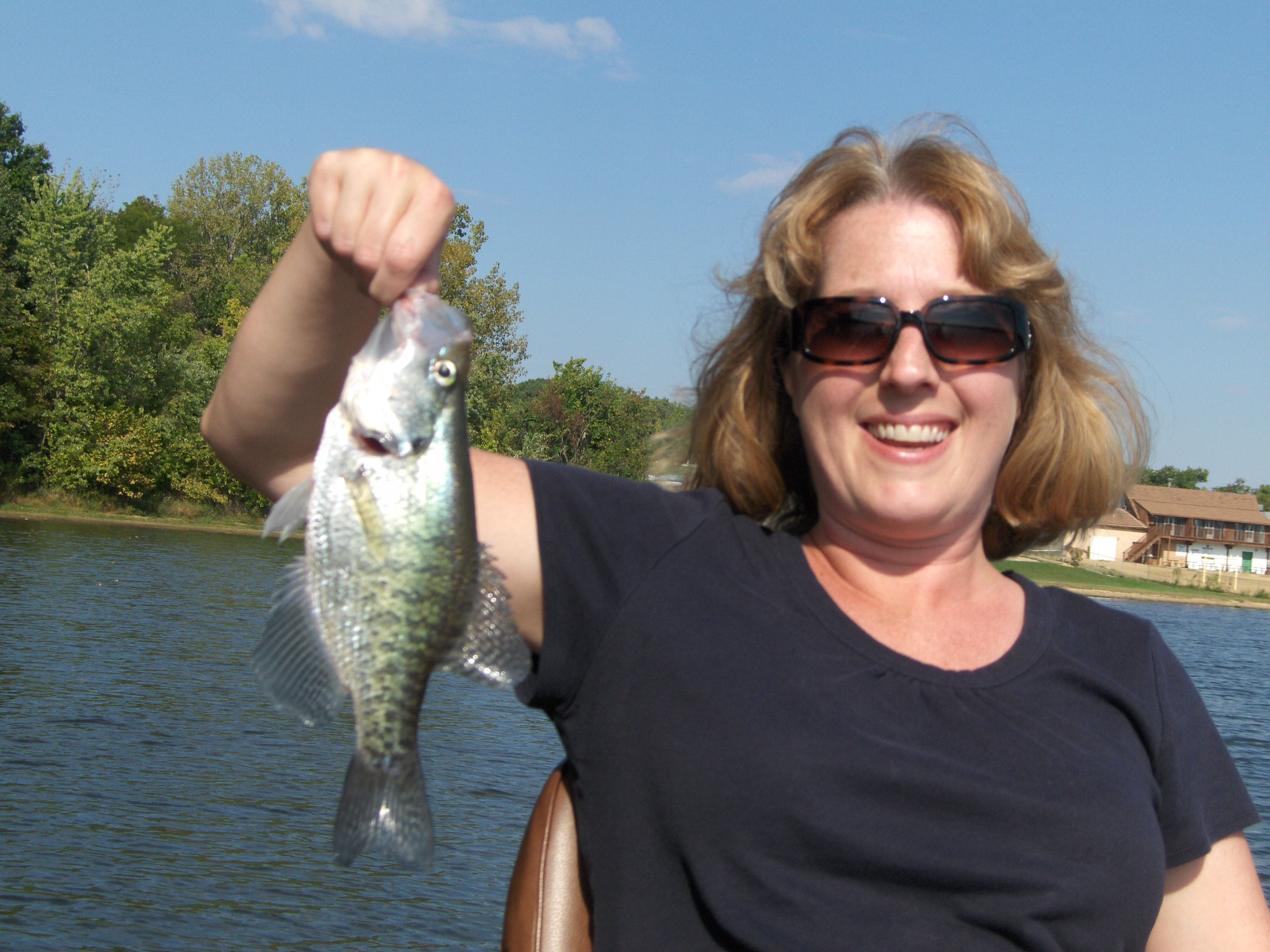 Nina with crappie
